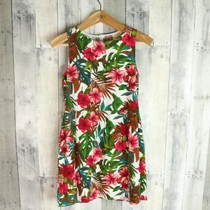 Everly Nordstrom Sz Small Floral Linen Shift Dress